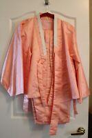 Ceremonial Hikori Kimono Complete with pants and belts. Pink Geisha