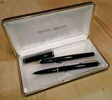 Eccezionale coppia di penne MONTE GRAPPA originali anni 50 placcate oro