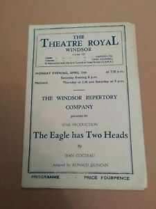 THEATRE ROYAL WINDSOR * THE EAGLE HAS TWO HEADS * ORIGINAL THEATRE PROGRAMME