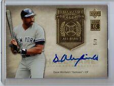 2005 Upper Deck Hall of Fame Seasons Dave Winfield Autograph Auto 4/5 HOF