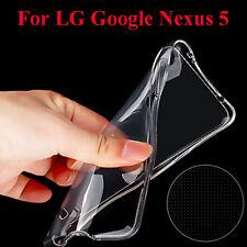 Alto calidad Cubierta TPU Transparente Carcasa Funda Para LG Google Nexus 5