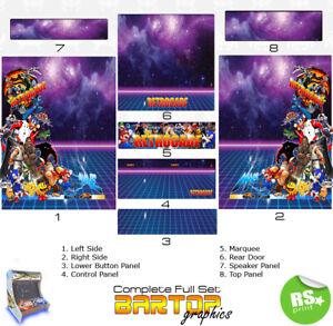 Retrocade v3 bartop Full/Half Sets Arcade Artwork Arcade Graphics Stickers