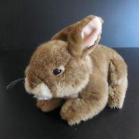 Peluche figurine animal lapin rongeur marron design jouet enfant vintage N5768
