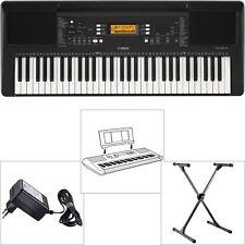Yamaha PSR E363 Keyboard für Anfänger SET mit X-Stativ + Netzteil + Notenablage