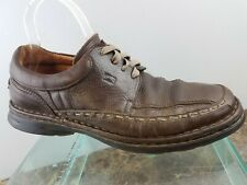 f8785e17659 Fluchos Brown Leather Lace Up Bicycle Toe Oxford Casual Walking Comfort  Shoes 9