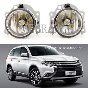 LED Bumper Fog Light For Mitsubishi Outlander 2016-2019 Driving Lamp Left+Right