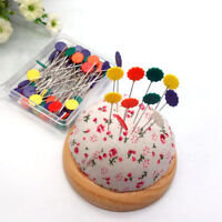 """50pcs Flower Head Pins Nickel Plated Quilting Sewing Crafts Easy Tools Long 2"""""""