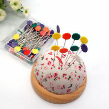 """50pcs Long 2"""" Flower Head Pins Crafts Easy Quilting Sewing Tools Nickel Plated"""