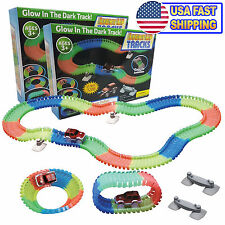 Magic Twister Tracks Glow In the Dark Light Up Race Tracks Bends & Glows 2pc Set