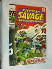 Captain Savage and his Battlefield Raiders #17 F+ War in the Pacific