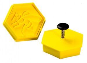 Plätzchen-Ausstechform Biene, Ausstecher mit Keks-Stempel, Plätzchenform