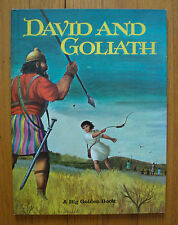 Vintage Big Golden Book DAVID & GOLIATH Barbara Hazen 1968 Oversize HC 1st Ed.