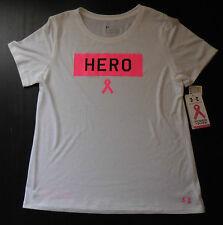 UNDER ARMOUR T-Shirt Women's UA Hero Power in Pink Medium White/Pink/Black New
