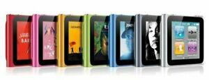Apple iPod Nano 6th Gen 8GB/16GB  Silver, Graphite, Blue, Green, Orange, Red