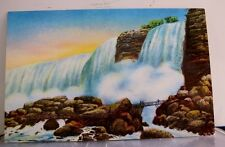 Canada Ontario Niagara Falls Rock of Ages American Postcard Old Vintage Card PC