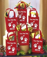 Set Of 6 Pet Treat Bags - Cat