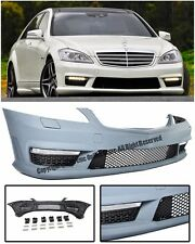 AMG Style NO PDC Front Bumper Cover W/ Fog Lights DRL For 07-13 MB W221 S-Class