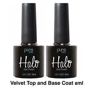 Halo Gel Polish PURE NAILS UV/LED VELVET Top And Base Coat 2 X  8ml