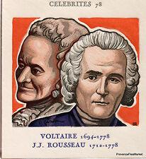 VOLTAIRE ET ROUSSEAU Yt1990  FRANCE  FDC Enveloppe Lettre Premier jour