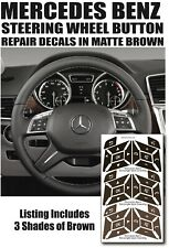 Mercedes Benz SLK 230 GLK 350 Worn Steering Wheel Button Repair Decals Brown