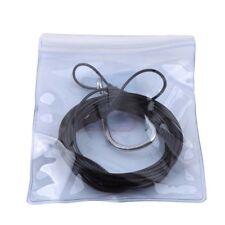 Fishing Hook Shark Rubber Tube 3m Line Black Barbed Hooks Stainless Steel LG