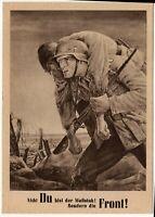 WW2 III REICH GERMAN STAMP WAR POSTAL CARD - WEHRMACHT SOLDIERS at FRONT BATTLE