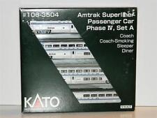 KATO N Scale Amtrak Superliner Passenger Car Phase IV Set A #106-3504 NIB