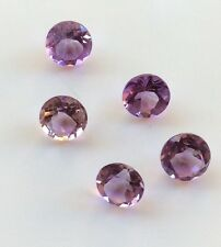 10 PC ROUND CUT SHAPE NATURAL LIGHT AMETHYST 2.75-3MM FACETED LOOSE GEMSTONES