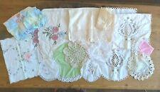 More details for vintage mix job lot table linens doilies mat crochet lace embroidered floral