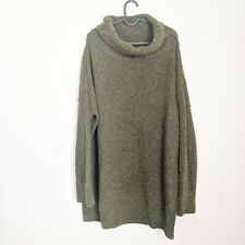 COS Olive Green Oversized Turtleneck Sweater Tunic Dress Size Large