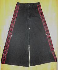 Vintage LIP SERVICE Skull Dagger Cross Black Pants - Size 28 Goth Punk Emo Rave
