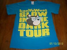 "Kanye West 2007 ""glow in the dark"" concert tour small t-shirt rare! rap hip hop"