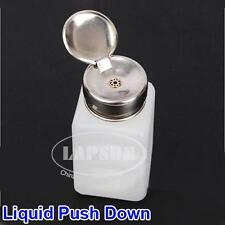 200ML Clear Liquid Push Down Alcohol Dispenser Solder Flux Bottle Anti-Reflux US