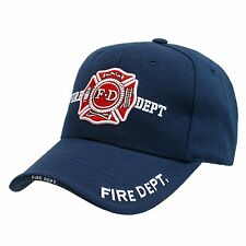 FIRE DEPARTMENT BASEBALL CAP CAPS HAT HATS BLUE USA