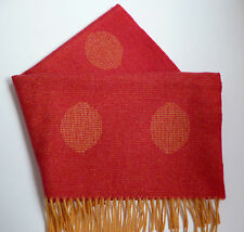 Boys Girls baby pram blanket red orange spotted wool woollen cot cover - NEW