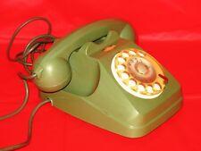 TELEFONO SIP VERDE AUSO SIEMENS A DISCO VINTAGE