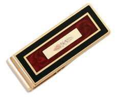 Black Hills Gold money clip brown enamel mens or womens 12k BHG