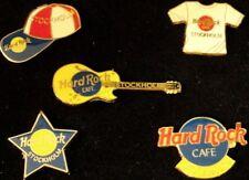 Hard Rock Cafe STOCKHOLM 1997 Set of 5 ENAMEL Boxed PINS - COA #100 of 300