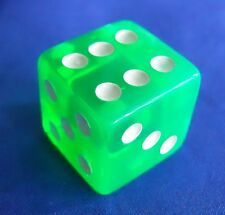 CSI Senses Translucent Green Large Die Replacement Game Part Piece Dice