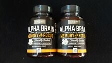 ONNIT ALPHA BRAIN SUPPORT MEMORY & FOCUS  ( 2 X 30 CT ) 60 CAPSULES EXP 11/2020
