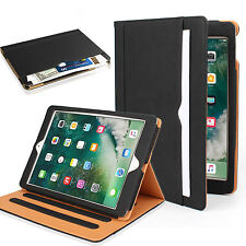 Premium Soft Leather Business Multi-Functional Folio Stand Smart Cover Card Slot