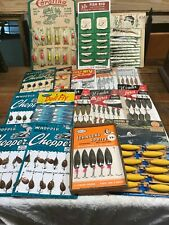 Lot of 19 Vintage Fishing Lure Displays. Most Complete Display Cards. Nos