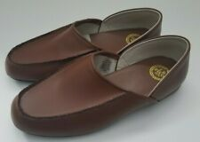 LB Evans Chicopee Classic Brown Leather Slippers Shoes Men's Size 8.5 EEE