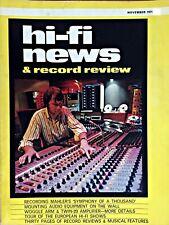 HI-FI NEWS NOV 1971 DUAL CV80 AMP ALPHA F 212 STEREO AMP HELME FIRECREST SPEAKER