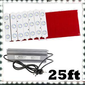 Brightest 25ft Storefront LED light, 24v 3030 + Heavy Duty Power Supply