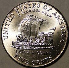 BU United States 2004 D Jefferson nickel Keel Boat Lewis & Clark 5 cent 5c coin