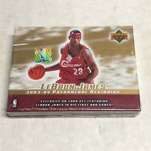 2003 Upper Deck Lebron James Box Set RC Phenomenal Beginning Sealed HM03