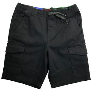 NWT Iron Co. Black Stretch Cargo Shorts Boys Size 10/12