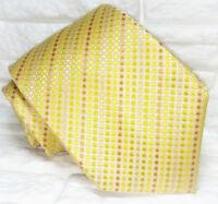 Krawatte seide Gold Jacquard breit  Made in Italy TRE marke hochzeit / business