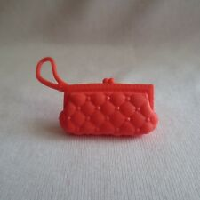 NEW Barbie Fashionista Doll Coral Quilted Look Bag Handbag Purse Clutch 1